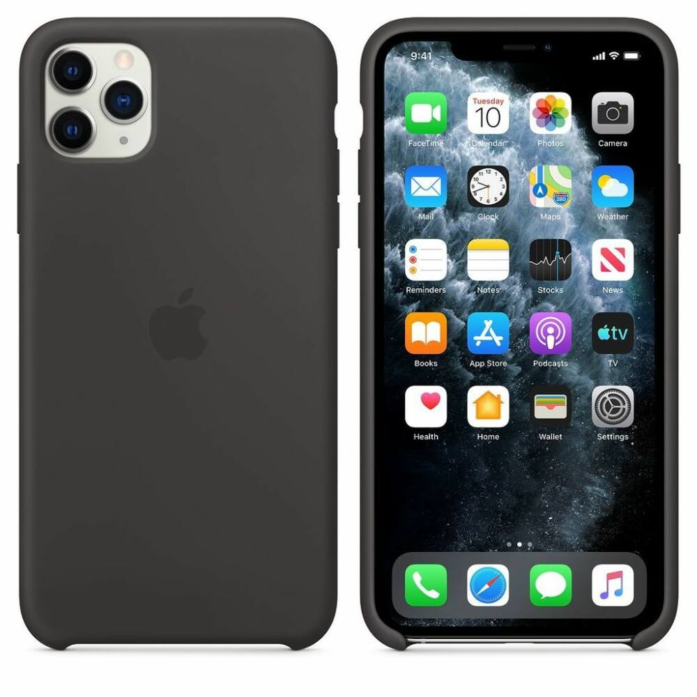 Apple iPhone 11 Pro Max fekete szilikon tok (MX002ZM/A)