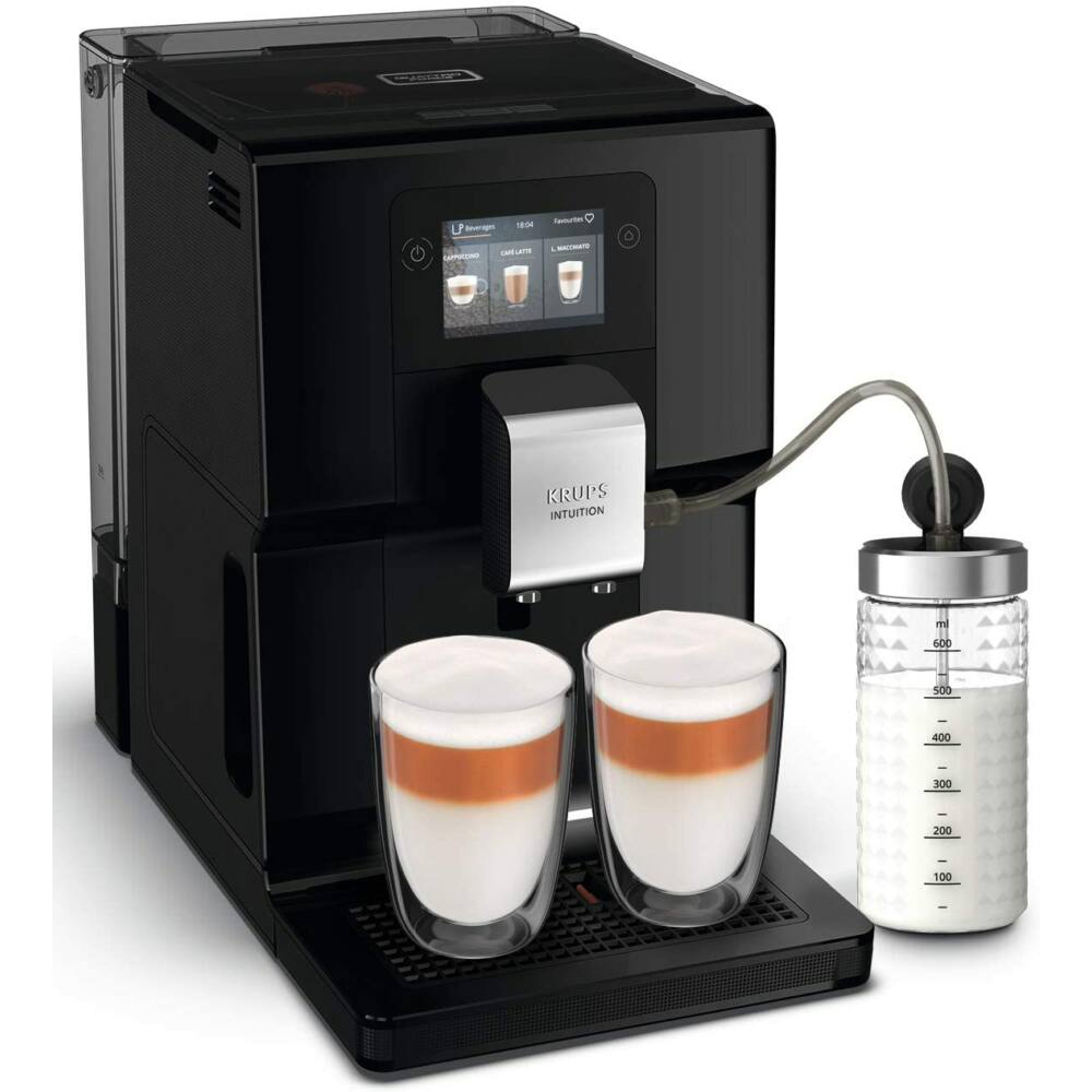 Krups EA873810 Intuition Preference Fekete Automata kávéfőző tejtartállyal