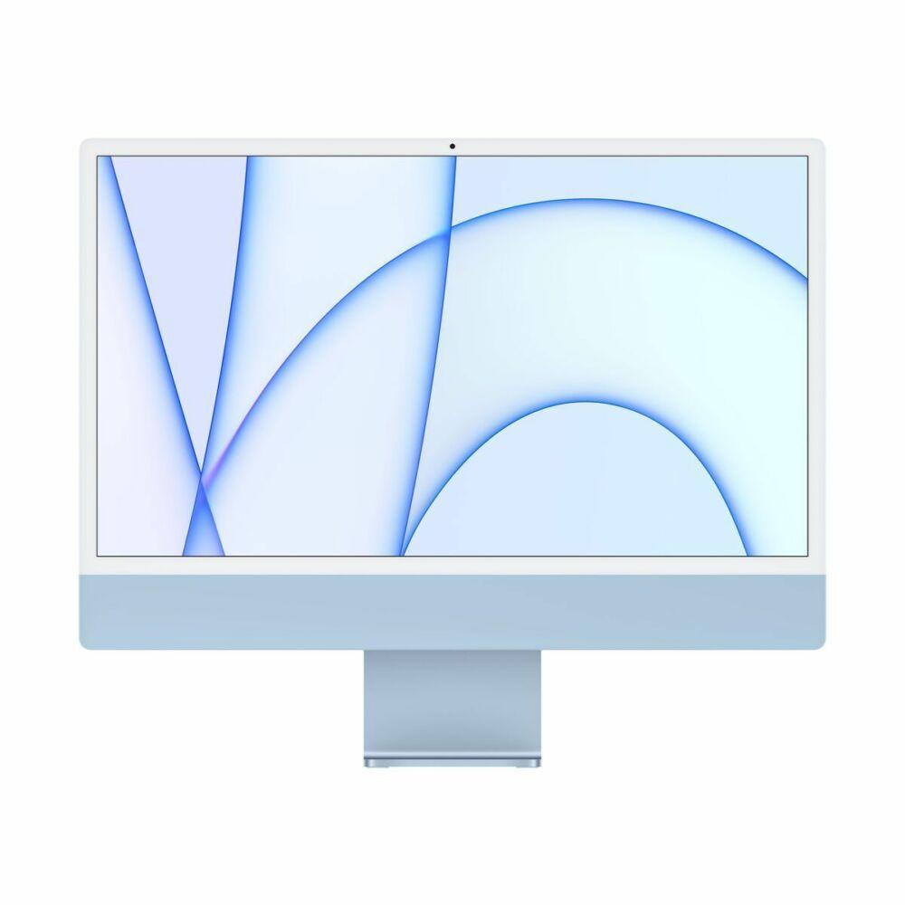 "Apple iMac 24"" Retina, 4.5K, M1 8C CPU/8C GPU, 8GB/256GB - Kék (2021) MGPK3MG/A"