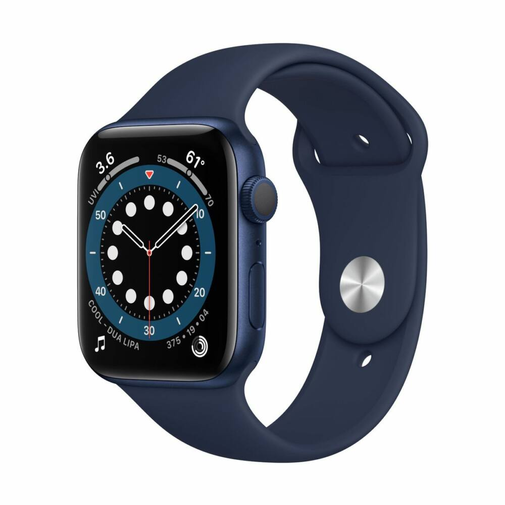 Apple Watch Series 6 GPS 44mm Tengerészkék Alumínium tok - sportszíjjal