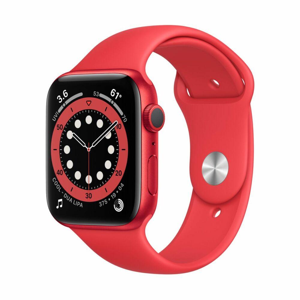 Apple Watch Series 6 GPS 40mm Piros Alumínium tok - sportszíjjal
