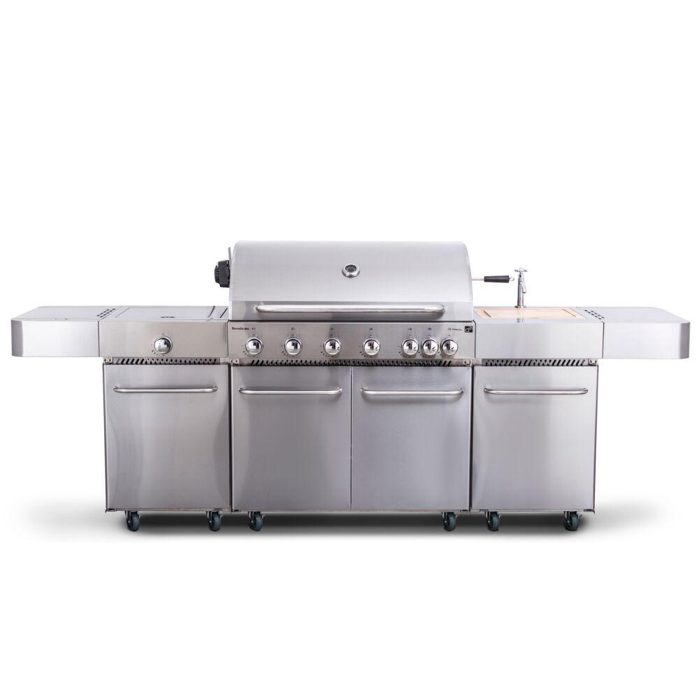 G21 Nevada, BBQ konyha Premium Line gázgrill 7 égőfej+ ajándék nyomáscsökkentő