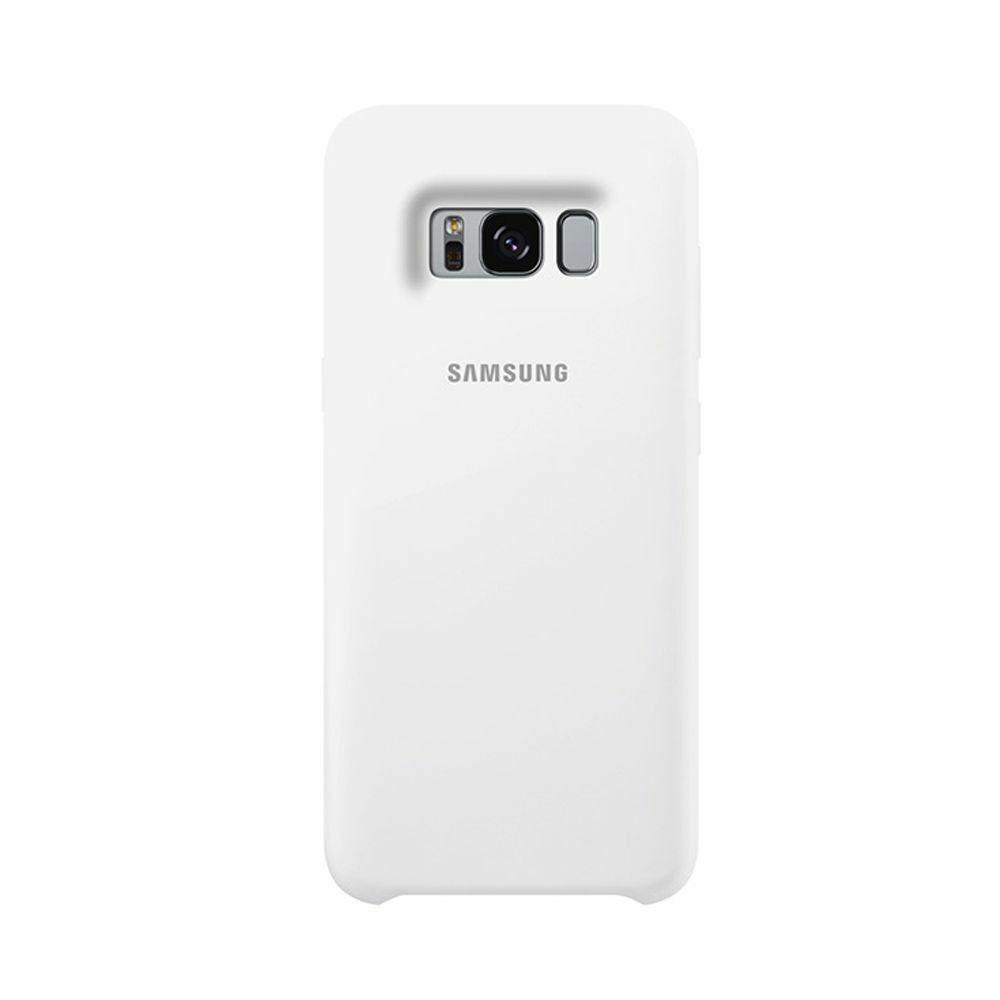 Samsung szilikon gyári védőtok, Galaxy S8+, Fehér