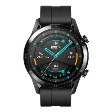 Huawei Watch GT 2 Okosóra, 46mm, Fekete szilikon