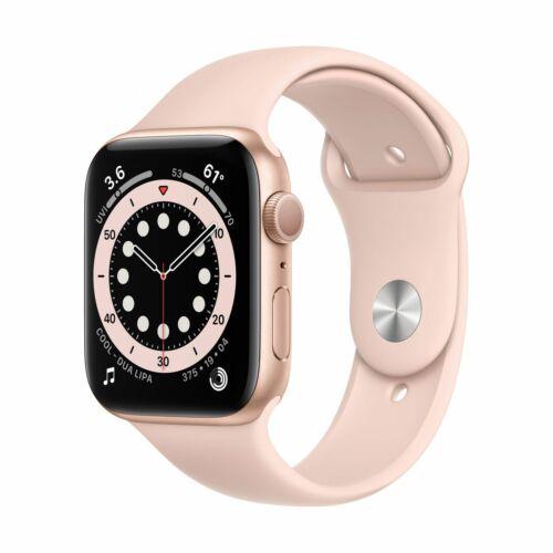 Apple Watch Series 6 GPS 44mm Arany Alumínium tok - sportszíjjal
