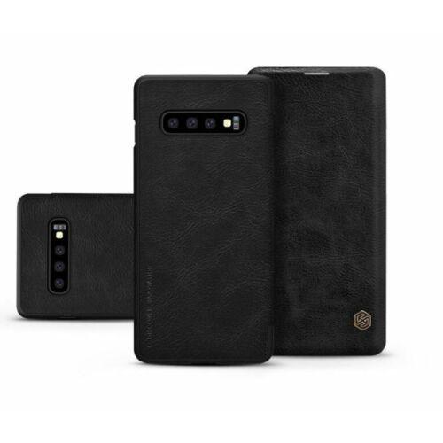 Samsung Galaxy S10 oldalra nyíló flipes tok - Nillkin Qin - fekete