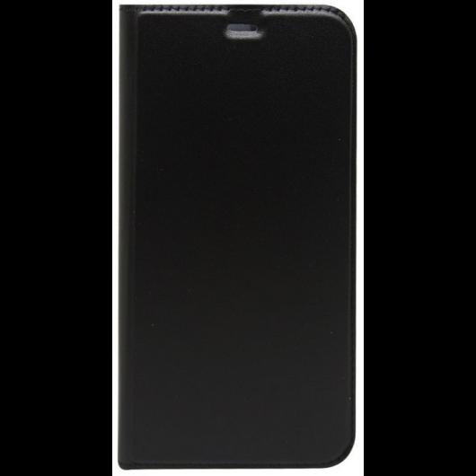 Huawei P Smart oldalra nyiló flip tok, fekete