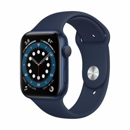 Apple Watch Series 6 GPS 40mm Mélykék Alumínium tok - sportszíjjal