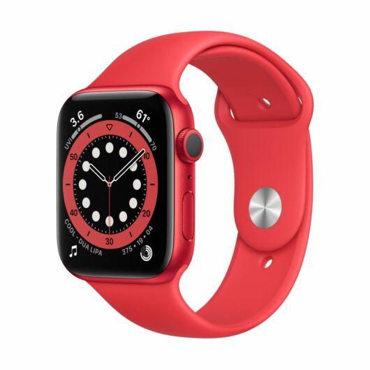 Apple Watch Series 6 GPS 44mm Piros Alumínium tok - sportszíjjal