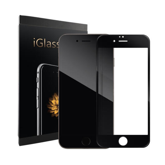 iGlass Pro kijelzővédő üvegfólia – iPhone 8 Plus Fekete