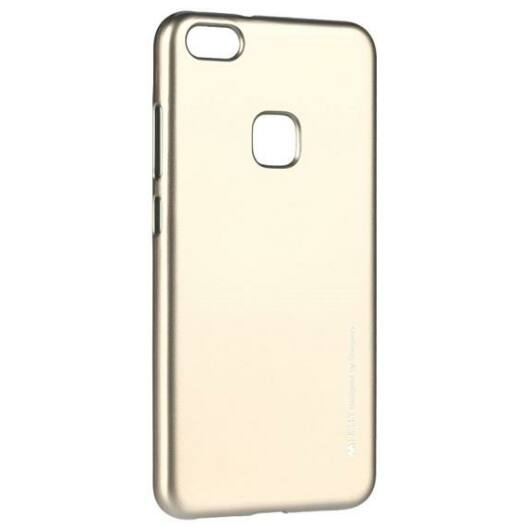 Huawei P10 Lite, szilikon tok Mercury i-Jelly TPU, arany