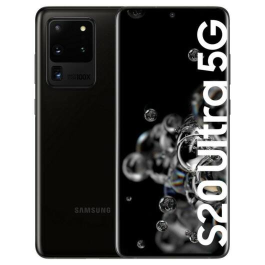 Samsung Galaxy S20 ULTRA G988B 5G 128GB Dual Sim Fekete